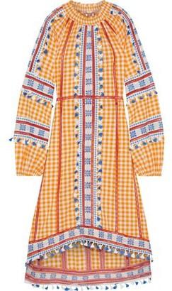 Dodo Bar Or Tasseled Gingham Cotton-jacquard Dress