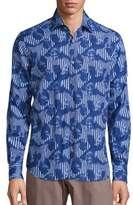 Saks Fifth Avenue COLLECTION Tonal Collage Shirt