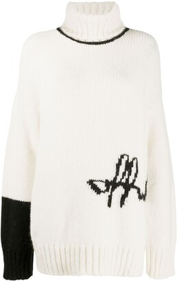 Off-White Intarsia-Knit Logo Jumper