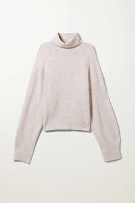 Weekday Aggie Turtleneck Sweater - Black