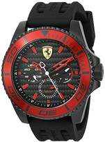 Ferrari Scuderia Men's 'XX Kers' Quartz Stainless Steel and Silicone Casual Watch, Color:Black (Model: 0830310)
