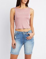 Charlotte Russe Say Yes Graphic Tank Top