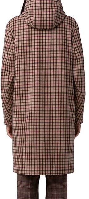 Thumbnail for your product : Akris Isolde Plaid Stretch-Wool Hooded Jacket