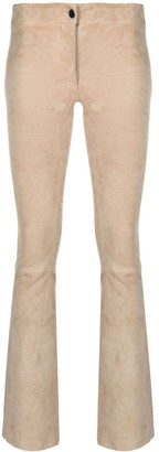 Arma Suede Bootcut Trousers
