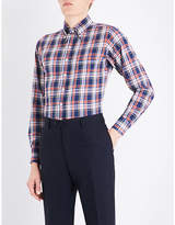 Drakes Tablecloth-checked Slim-fit Cotton Shirt