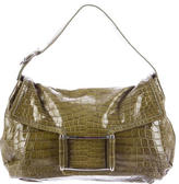 Lambertson Truex Crocodile Handle Bag