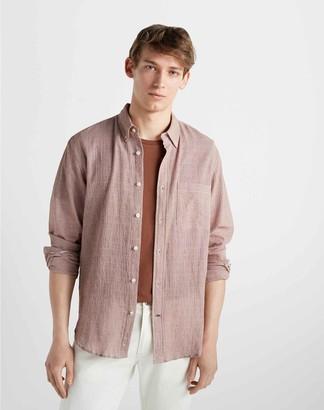 Club Monaco Standard Fit Mini-Houndstooth Shirtt