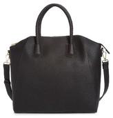 Sole Society Giada Braided Faux Leather Satchel - Black