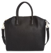 Sole Society Gina Braided Faux Leather Satchel - Black