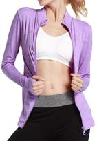 eronde Women Sweat Shirts Workout Running Yoga Slim Zipper with Two Side Pocket Jacket
