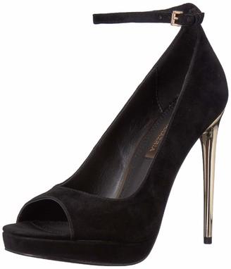 BCBGMAXAZRIA Women's Becky Peep Toe Pump Shoe