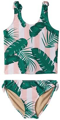 Shade Critters Botanical Tankini Set (Toddler/Little Kids/Big Kids) (Pink 2) Girl's Swimwear Sets