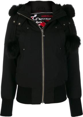 Moose Knuckles Fur Hooded Jacket