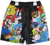 Super Mario Little Boys Sky Blue Character Swim Wear Shorts