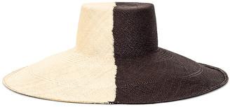 Artesano Urus Extra Wide Brim Hat in Natural & Black | FWRD