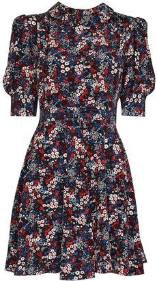 See by Chloe Floral-Print Babydoll Mini Dress