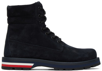 Moncler Navy Suede Vancouver Boots