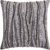 Nourison Couture Luster Beaded Ripples Throw Pillow