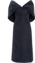 Zac Posen Silk Faille Shawl Neck Dress
