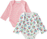 Cath Kidston Rosy Posy Baby 2 Pack Long Sleeve Bodysuit