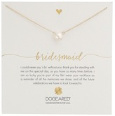 Dogeared Bridesmaid White Pearl Necklace Necklace