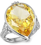 Judith Ripka Bermuda Pear Ring with Canary Crystal