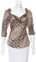 Just Cavalli Printed Asymmetrical Blouse