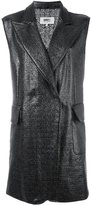 MM6 MAISON MARGIELA sleeveless coat - women - Polyester/Polyurethane/Viscose - 42