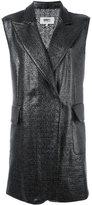 MM6 MAISON MARGIELA sleeveless coat - women - Polyester/Polyurethane/Viscose - 42