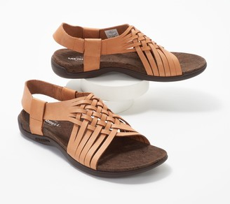 Merrell Leather Woven Detailed Sandals - District Mahana