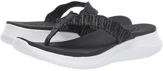 Skechers Ultra Flex (Black) Women's Sandals