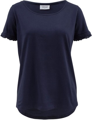 Wallace Cotton Asha Short Sleeve Tee Indigo