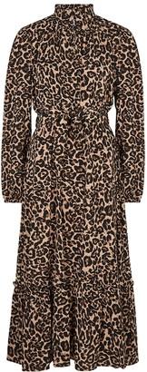 Baum und Pferdgarten Antoinette leopard-print midi dress