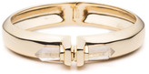 Alexis Bittar Small Pierced Rock Crystal Hinge Bracelet