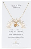 Dogeared Women's Heart Full Of Happiness Puffy Pendant Necklace