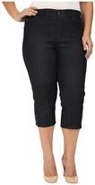 NYDJ Plus Size Plus Size Ariel Crop Jeans in Dark Enzyme