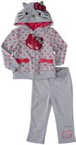 Hello Kitty Fleece Active Set (Baby/Toddler) - Heather Grey-12 Months