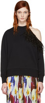 Christopher Kane Black Feather Sweatshirt
