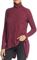 Free People Split Back Turtleneck Top