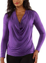 24/7 Comfort Apparel Draped Neck T-Shirt-Womens