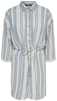 Only Striped Shirt Dress with Long-Sleeves