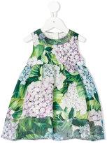 Dolce & Gabbana hydrangea print dress - kids - Silk/Cotton/Polyamide/Viscose - 9 mth