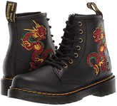 Dr. Martens Kid's Collection 1460 Embroidery (Little Kid/Big Kid) (Black) Kid's Shoes