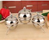 FSHFK stinless steel Spice jr set/ kitchen condiment bottle rck/ sesoning box/ sesoning bottles/Slt sugr sesoning tnk pckges
