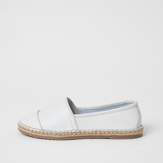River Island Ravel white leather espadrille sandals