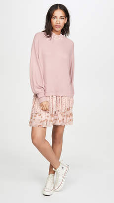Free People Opposites Attract Mini Dress