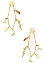 Shashi Lightning Charm Drop Earrings
