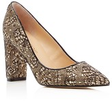 Ivanka Trump Katie Lace-Covered Metallic Pointed Toe Pumps