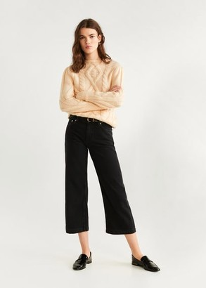 MANGO Culotte relaxed jeans off white - 1 - Women