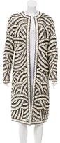Oscar de la Renta Long Embellished Coat w/ Tags